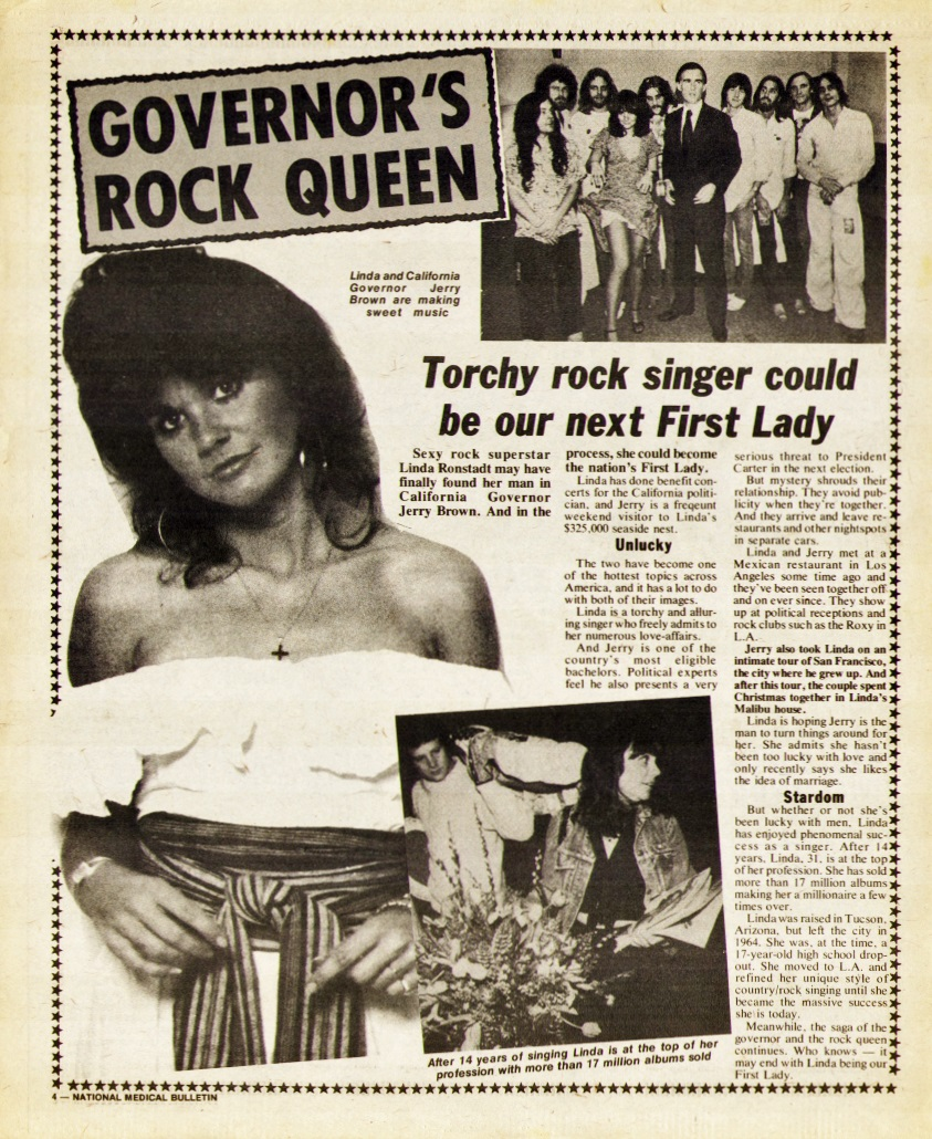 Linda Ronstadt tabloid article from 1978